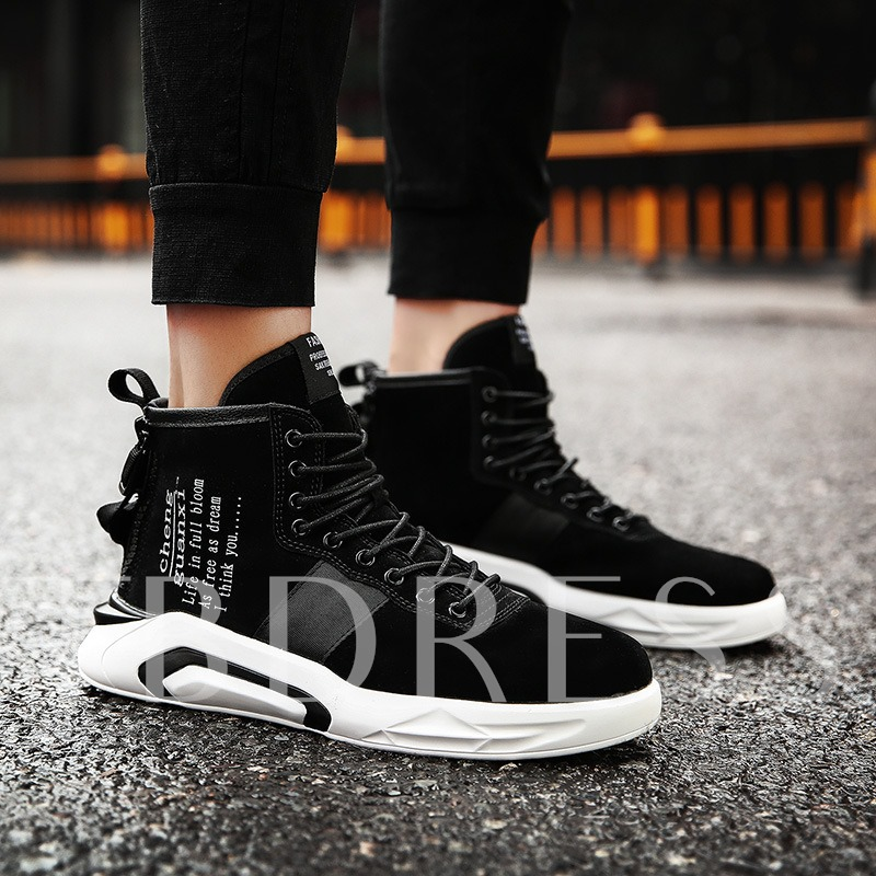 Buy Print Letter Cloth Men's Chic Shoes Fashion Skaters, Spring,Fall,Winter, 13017373 for $32.99 in TBDress store