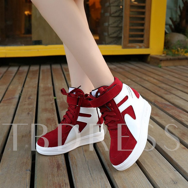 Height Increasing Shoes High Cut Platform Sneakers for Women