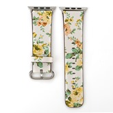 Apple Watch Band,Floral Artificial Leather Smart Watch Strap for iWatch 1/2/3