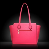 Simple Solid Color Zipper Women Tote