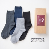 Mixed Color Mid Length Men's Winter Socks 4 Pairs