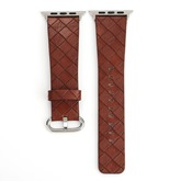 Apple Watch Band Strap,Artificial Leather Lattice Watch Replacement