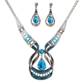 European Exaggerated Gemmed Charming Jewelry Sets