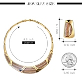 Bamboo Chain Circle Alloy Diamante Jewelry Sets