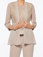 Lace 3 Pieces Mother of the Bride Pantsuits with Jacket