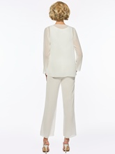 Lace Top 3 Pieces Mother of the Bride Pantsuits with Jacket