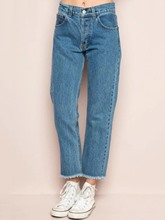 Plain Washable Ankle Length Harem Women's Jeans