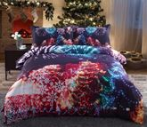 Christmas Modern Printed Cotton 4-Piece 3D White Bedding Sets/Duvet Covers