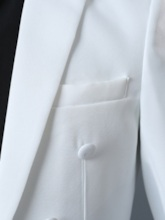 Collar Solid Color Slim Men's Swallow-Tailed Dress Suit