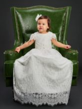 Baby Girls Lace Christening Baptism Gown