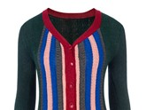 Christmas V-Neck Color Block Single-Breasted Cardigan Women's Knitwear