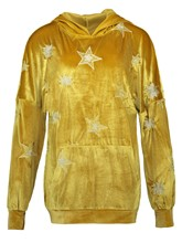Star Print Hooded Pullover Pocket Women's Hoodie
