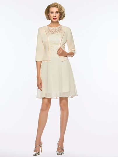 Top Short Mother of the Bride Dress with Jacket