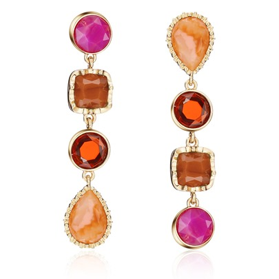 Irregular Reshin Colorful Square Earrings
