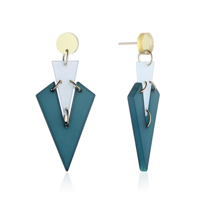 V Type Original Candy Color Acrylic Earrings
