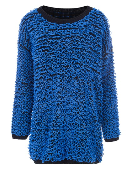Color Block Mid-Length Pullover Women's Sweater