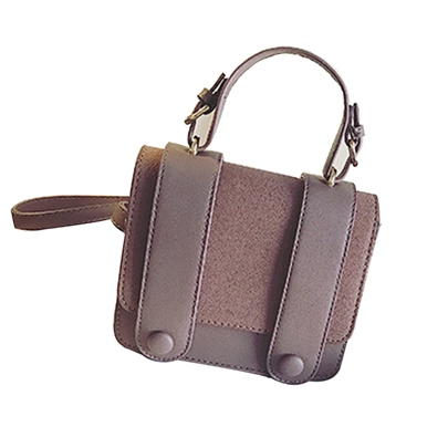 Korean Style Matting PU Women Satchel