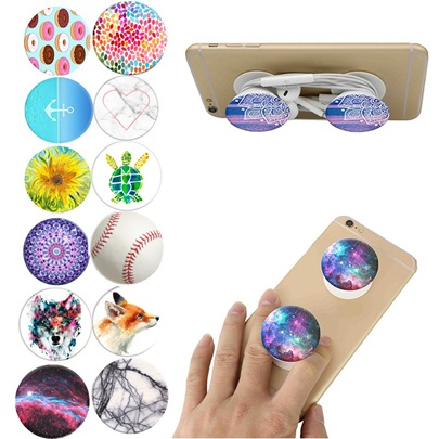 Fashion Floral Pop Sockets Expanding Grip Mount Phone Holder for Cell Phone