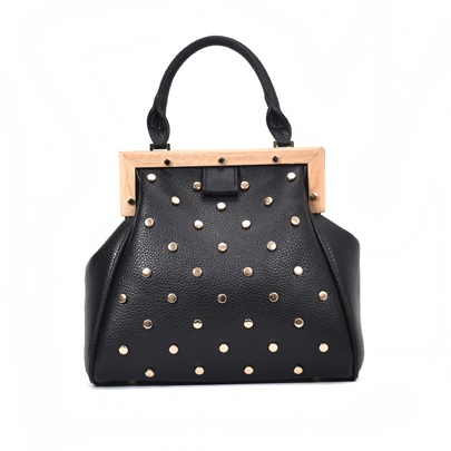 Trendy Rivet Decoration Women Satchel