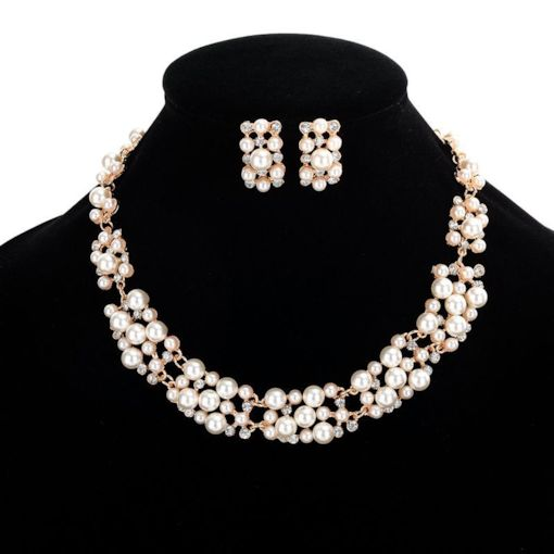 Imitation Pearl Hollow Out Colorful Hot Sale Jewelry Sets