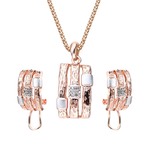 Shining Diamante Hollow Out Popcorn Chain Jewelry Sets