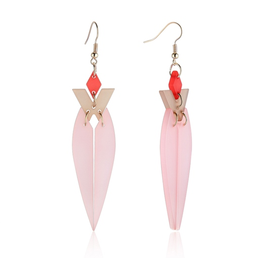 Pink Candy Color European Acrylic Earrings