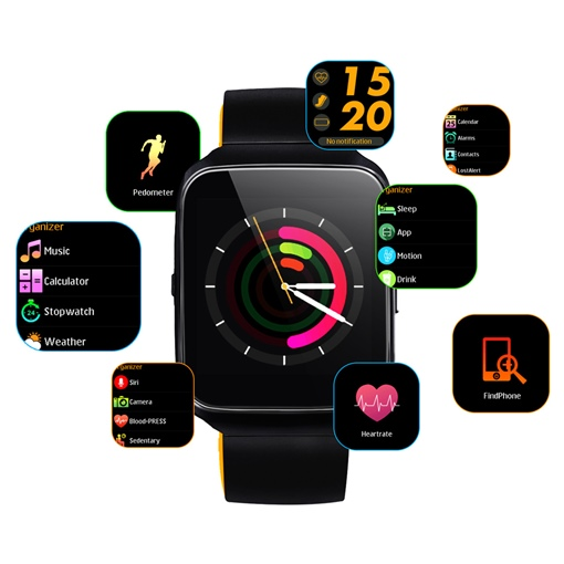Z40 Smart Watch Blood Pressure Monitor Voice Control for iOS Android