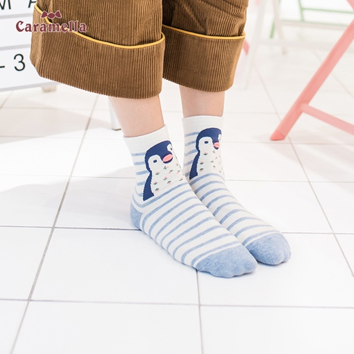 Cute Adult Socks Animal Mixed Pattern Women's Hosiery 4 Pairs