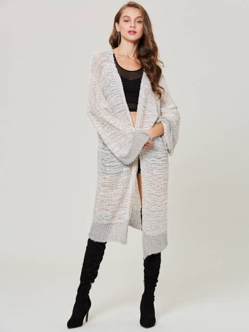 Loose Mottled Long Cardigan Women's Knitwear