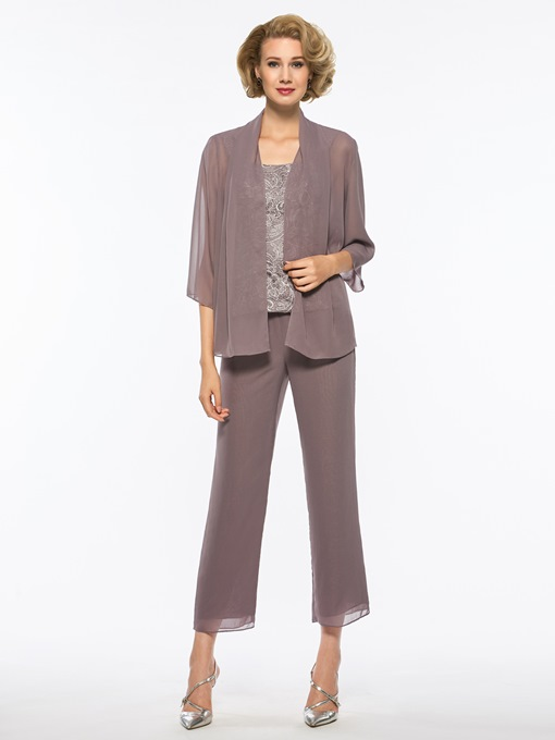 Lace 3-Pieces Mother of the Bride Pantsuits with Jacket