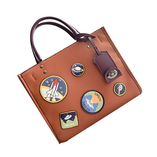 Personality Badge Decoration Women Tote