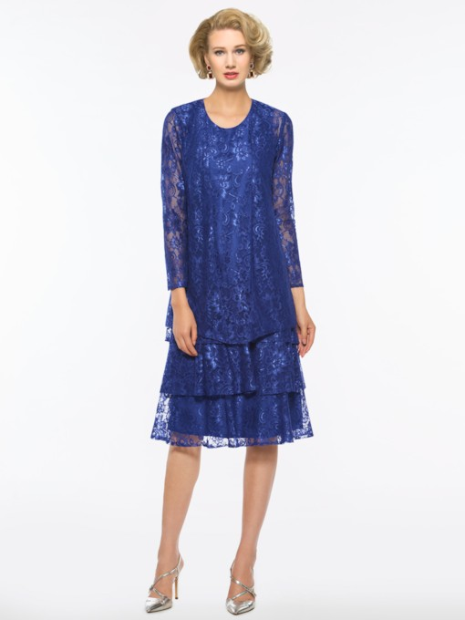 Tiered Lace Mother Dress with Jacket