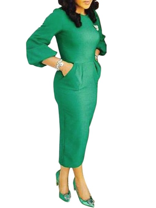 Green Lantern Sleeve Women's Bodycon Dress