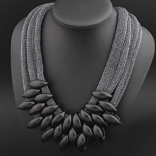 Woven Marquise Alloy Multilayer Hyperbole Necklace