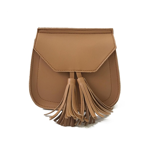 Big Circle Ring Tassel Mini Cross Body Bag