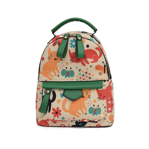 Cartoon Colorful Print Women Backpack