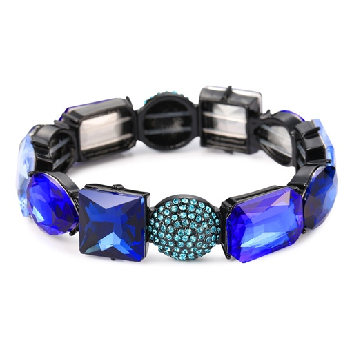 Diamante Black Coating Reshin All Match Bracelet