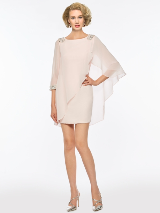 Scoop Neck Short Mother Of The bride Dress