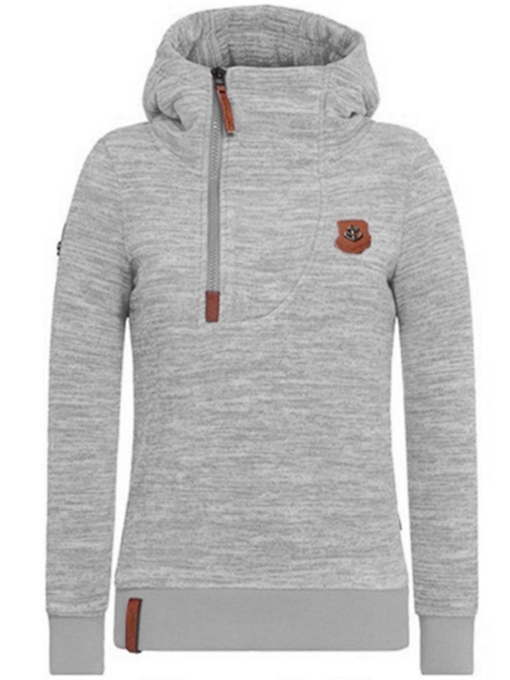 Sweat-Shirt Femme Zippé à Capuche Slim Fit