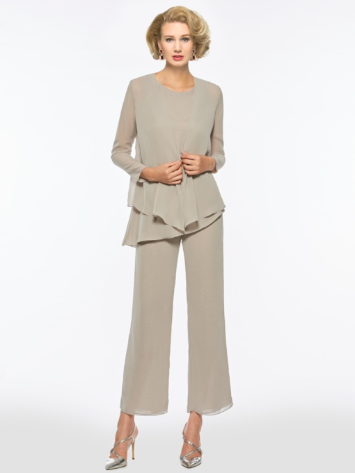 Mother of the Bride Jumpsuits with Long Sleeve Jacket