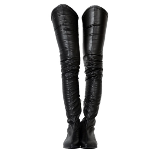 Block Heel Zipper Women's Thigh High Boots