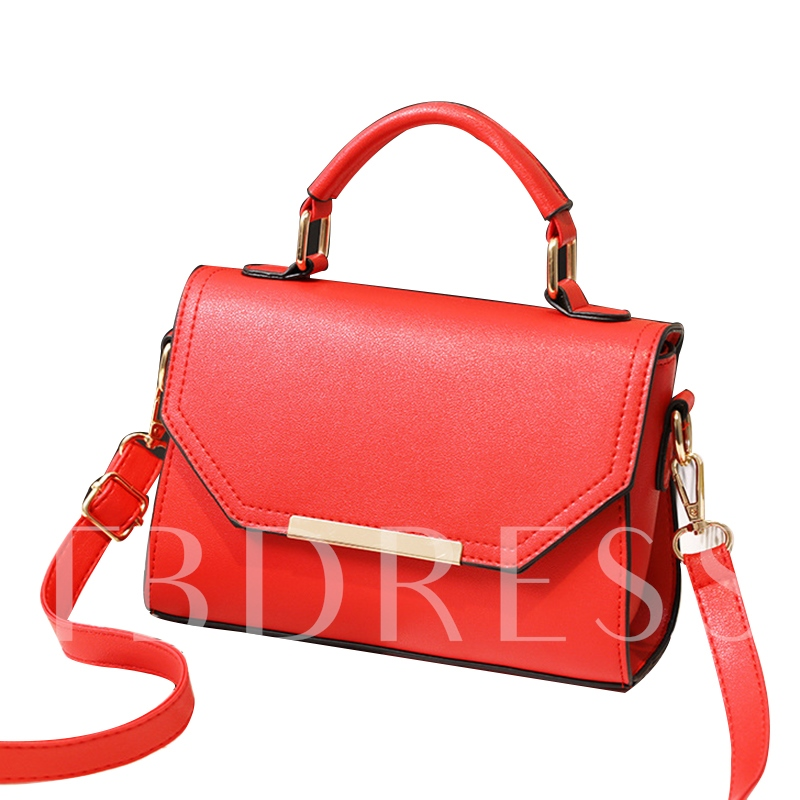 Concise Solid Color Cross Body Bag