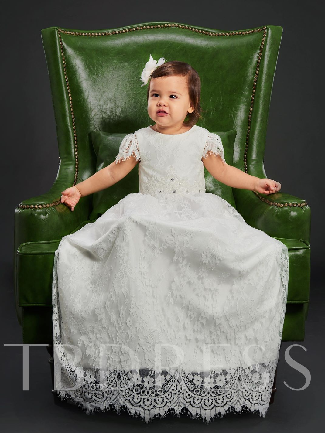 Baby Girls Lace Christening Baptism Gown - Tbdress.com