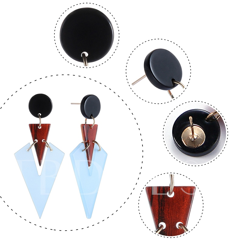 Accshine Alloy Online Celebrity Patchwork Acrylic Earrings