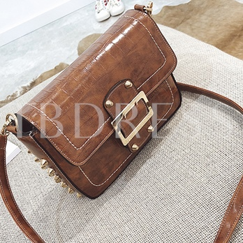 Vintage Embossing Rivet Cross Body Bag