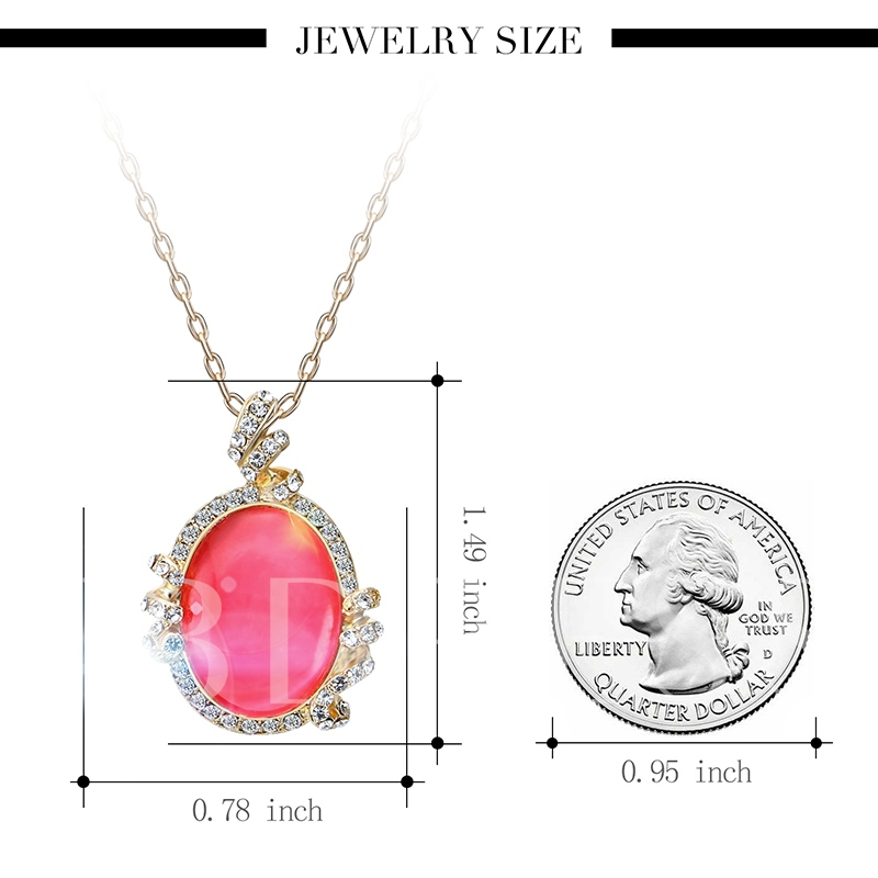 Oval Cut Diamante Alloy Overgild Link Chian Jewelry Sets