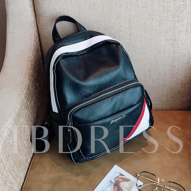 Preppy Chic Soft PU Women Backpack