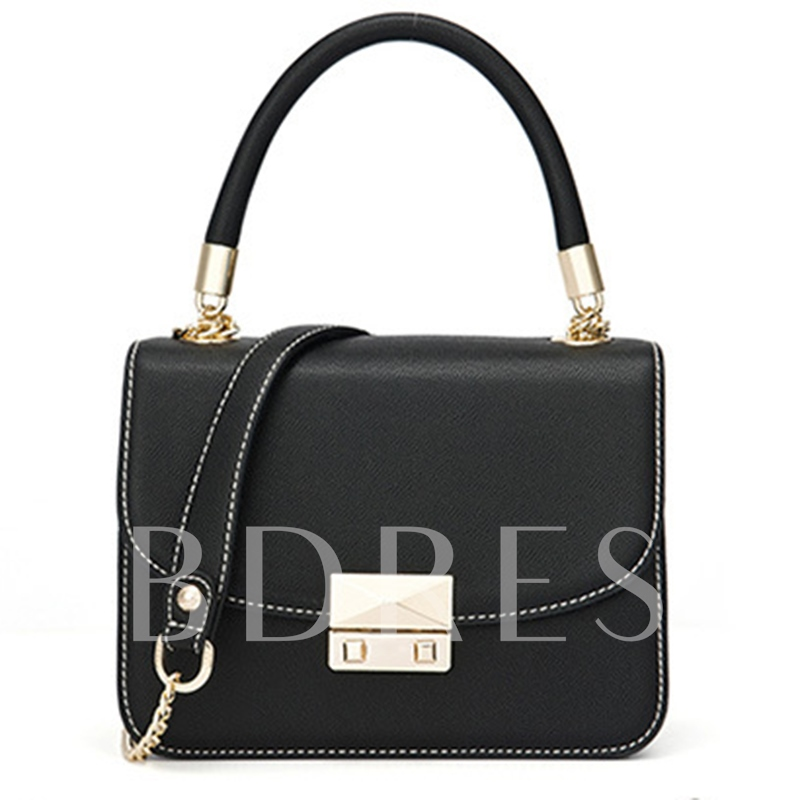 Korean Style Latch Decoration Cross Body Bag