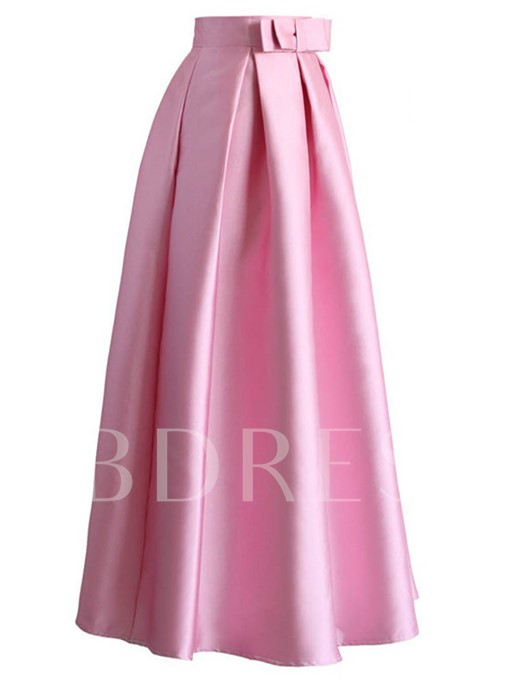 Pleated Expansion Dinner Party Women's Maxi Skirt
