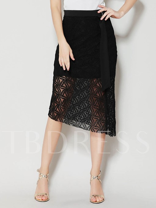 Irregular Lace-Up Side Split Women's Skirt